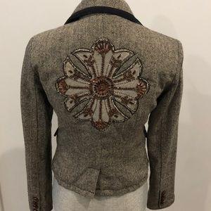 Wool tweed blazer with amazing details